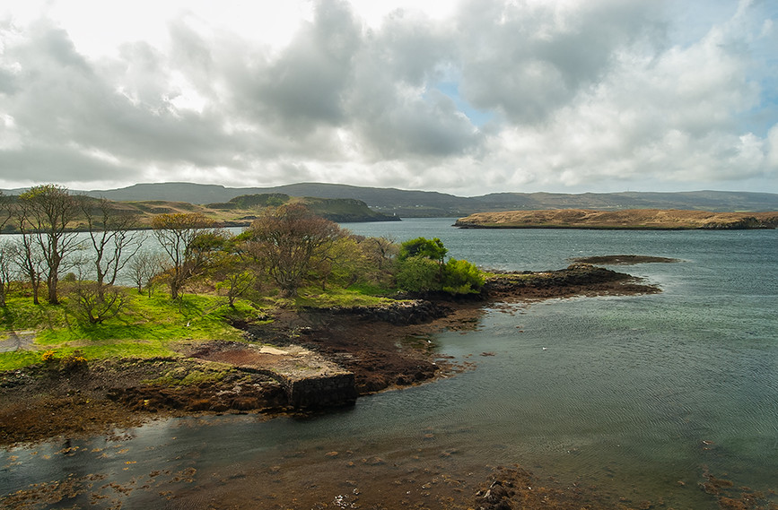 View over Loch Dunvegan from ramparts