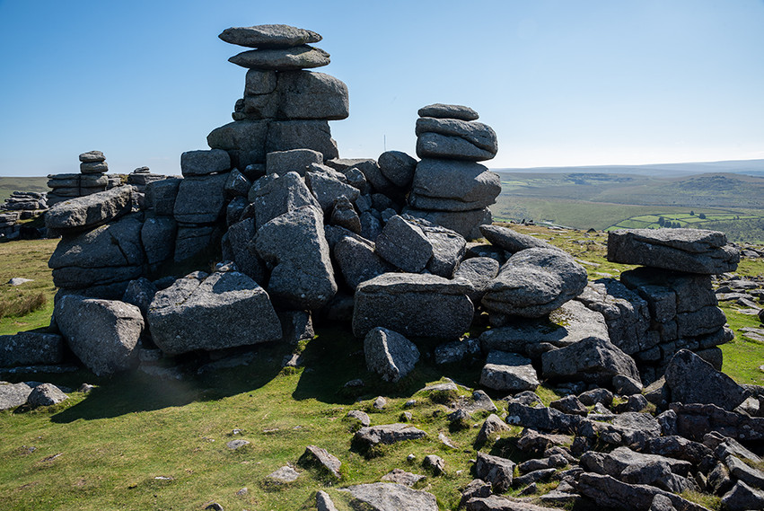 Granite outcrop on Great Staple Tor 20