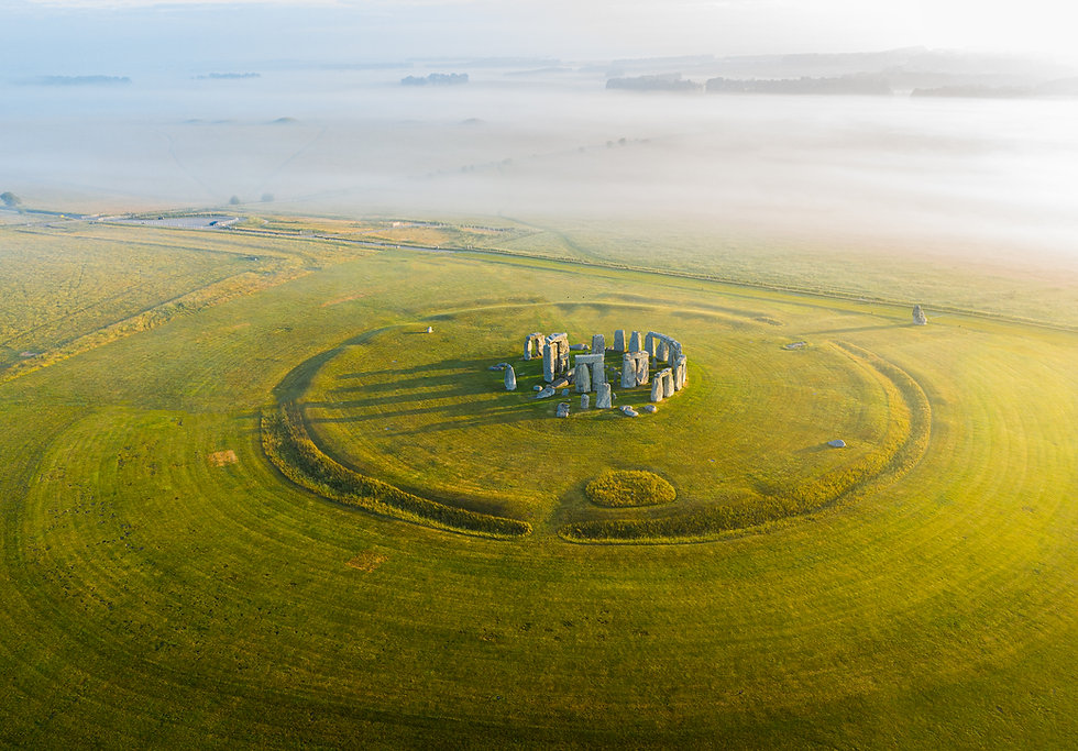 Stonehenge by drone