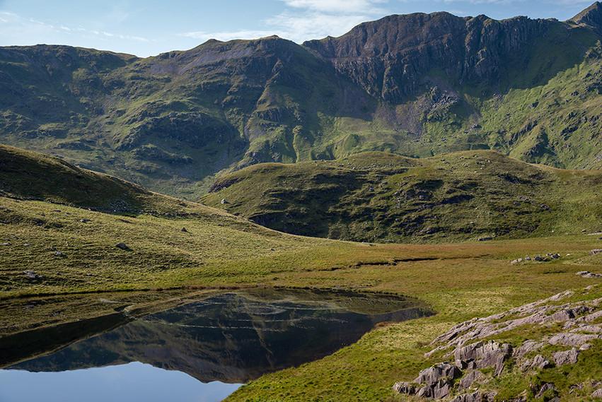 View across Llyn Teyrn