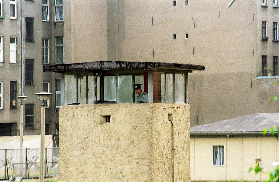 Mark One guard tower with East German soldier