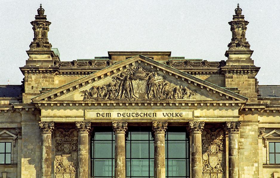 The Reichstag - 'Dem Deutschen Volke'