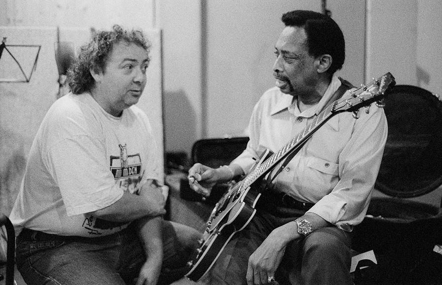 Larry Johnson with Bernie Marsden