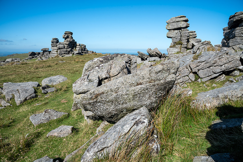 Granite outcrop on Great Staple Tor 6