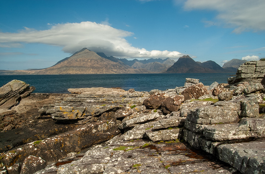 Across Loch Scavaig to the Black Cuillins 01