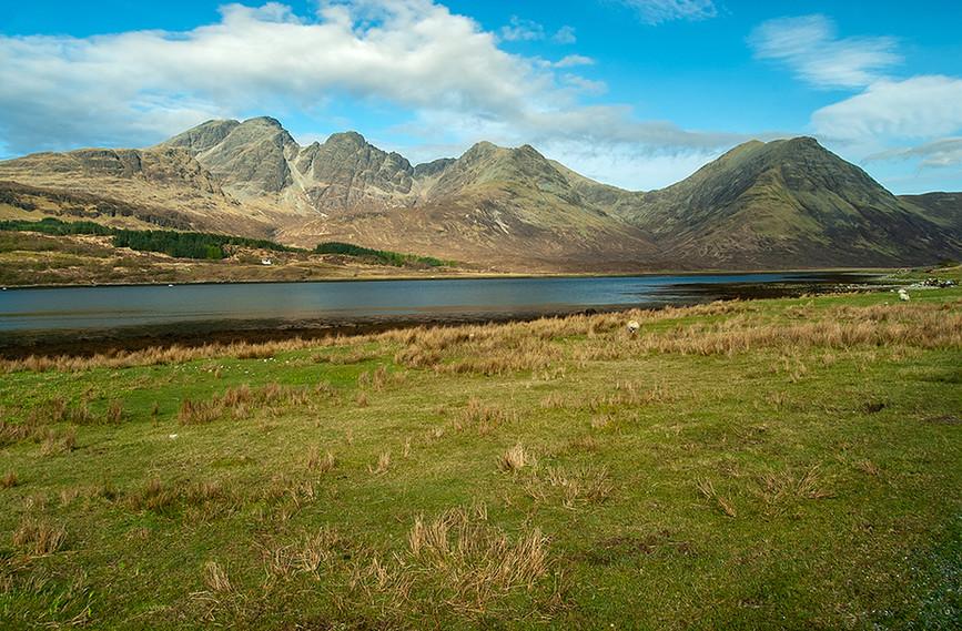 View across Loch Slapin towards Bla Bheinn & Sgurr nan Each