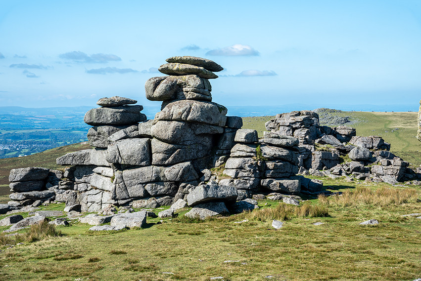 Granite outcrop on Great Staple Tor 15