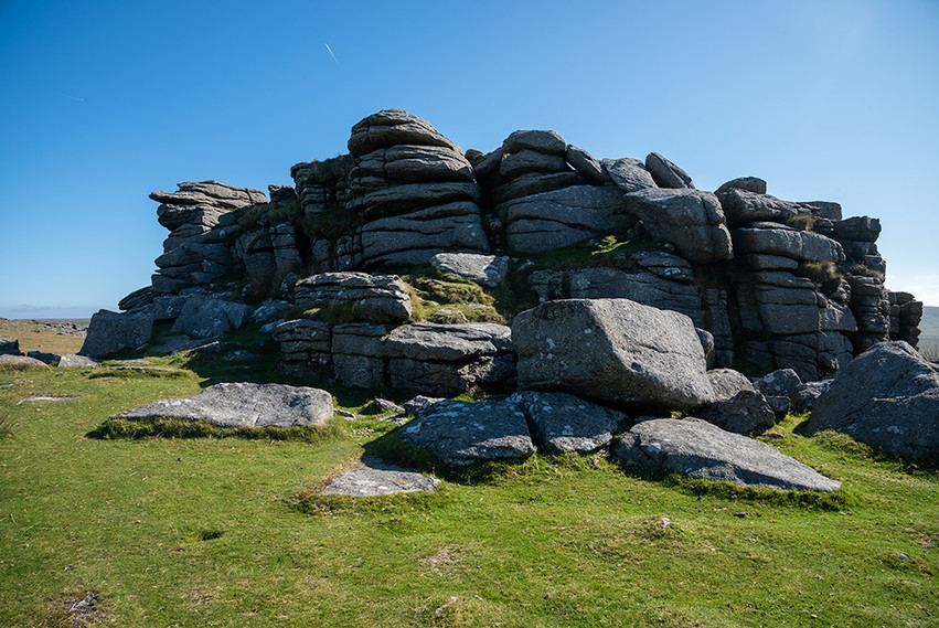 Granite outcrop on Middle Staple Tor 4