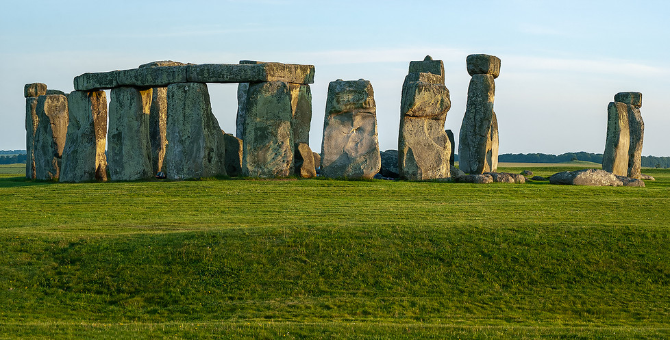 Panorama with Henge in the foreground