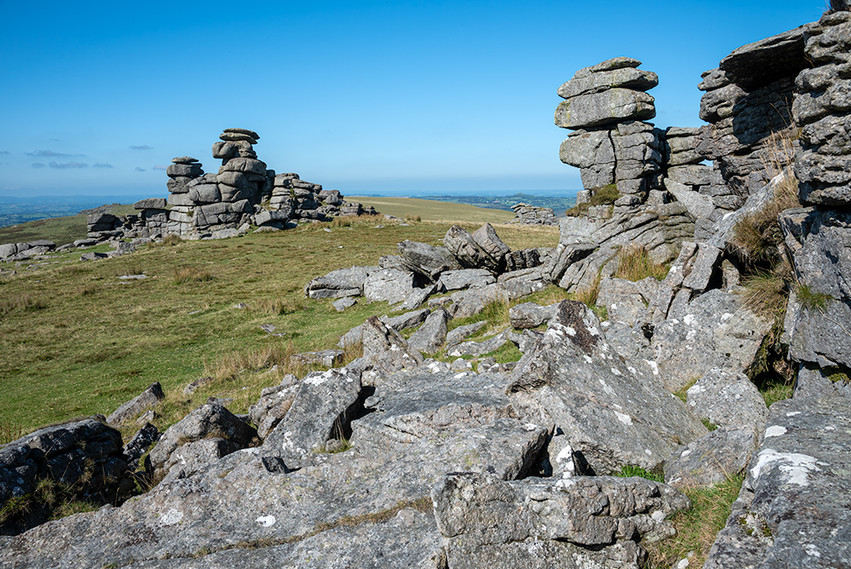 Granite outcrop on Great Staple Tor 10