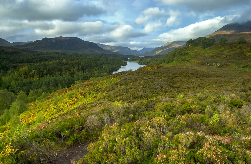 Looking west along Glen Affric (Sgurr Na Lapaich (right) & Meall a Ghraidh (left) 02