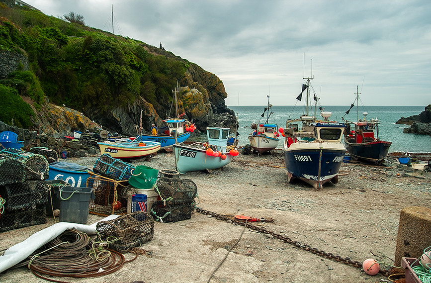 Fishing boats and lobster pots 01