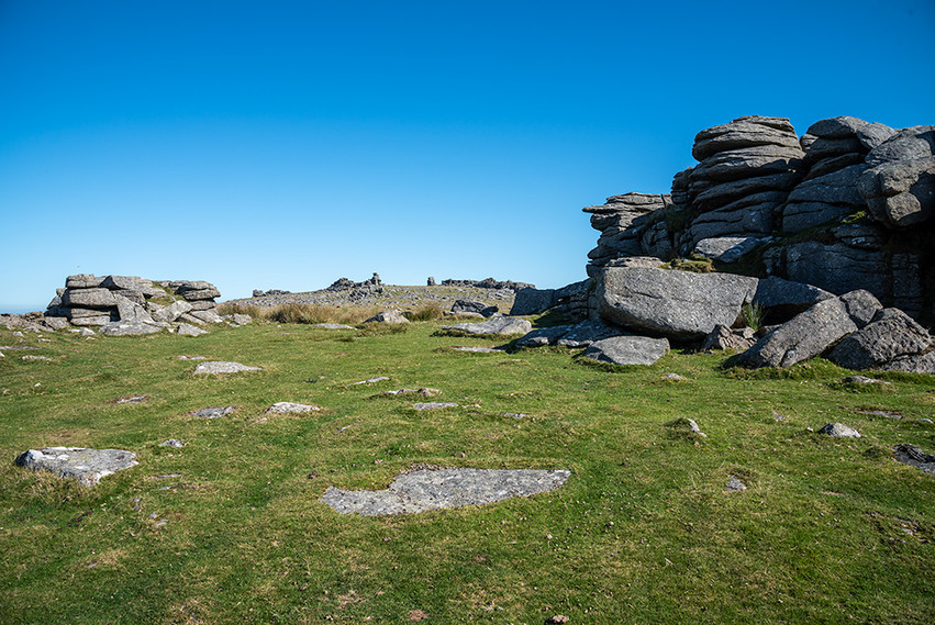 Middle Staple Tor with Great Staple Tor in the background