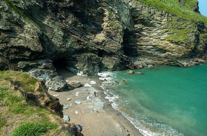 Merlin's Cave in Tintagel Haven 04