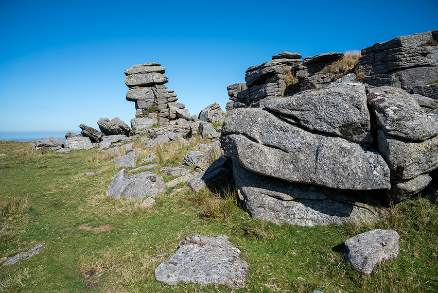 Granite outcrop on Great Staple Tor 5