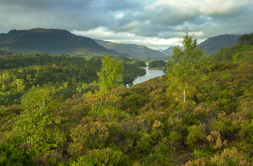 Looking west along Glen Affric (Sgurr Na Lapaich (right) & Meall a Ghraidh (left) 01