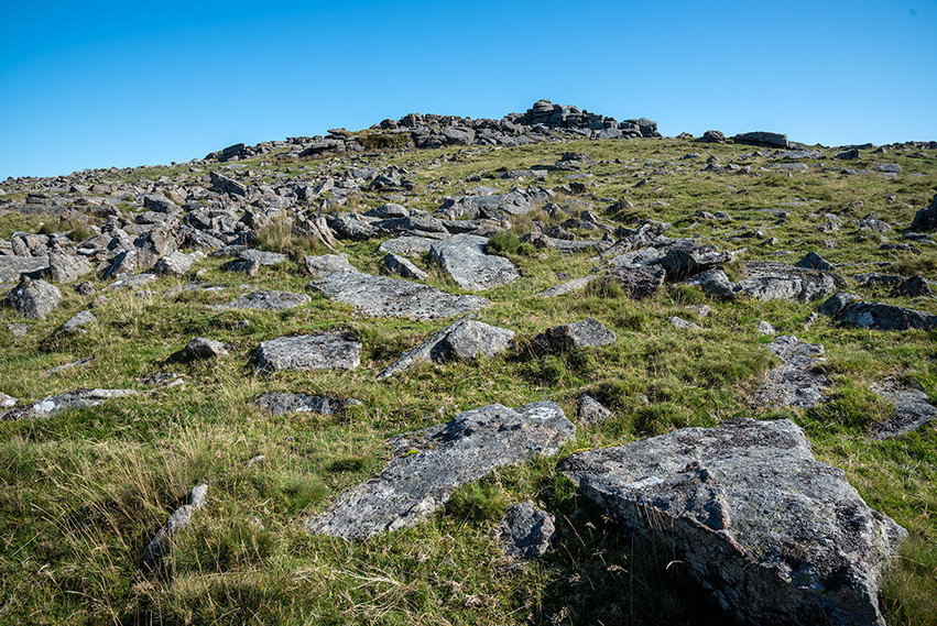 Clittler spread looking up to Middle Staple Tor 1