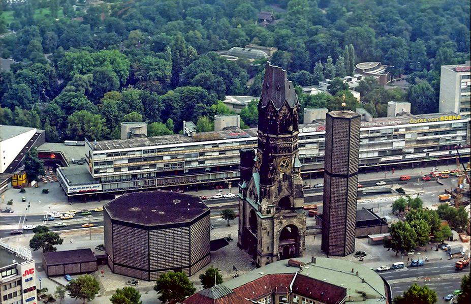 Kaiser Wilhelm Memorial Church from the air