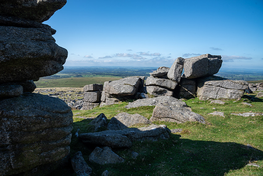 Granite outcrop on Middle Staple Tor 3