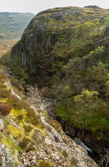 Creag Doire bheith near Clachaig Falls, Glencoe