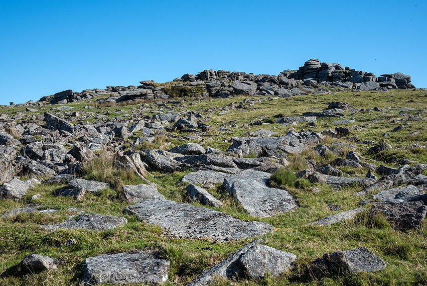 Clittler spread looking up to Middle Staple Tor 2