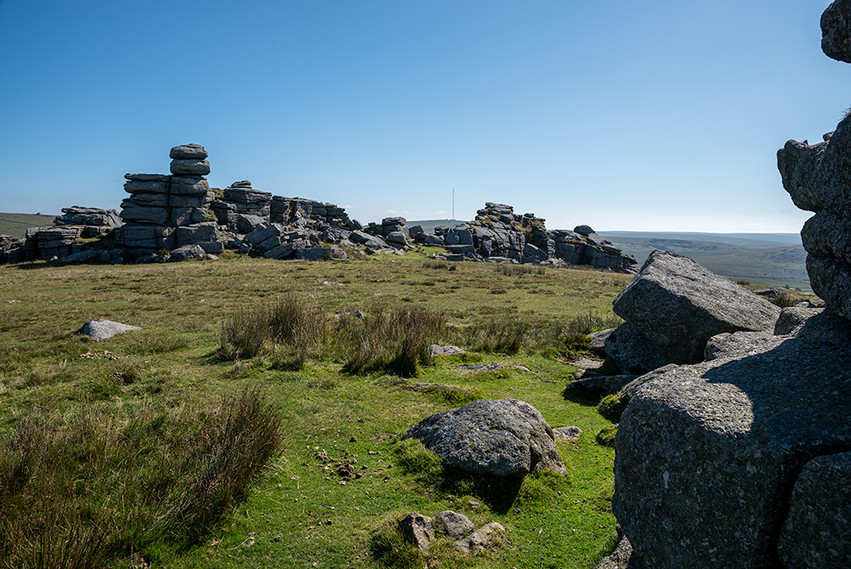 Granite outcrop on Great Staple Tor 18