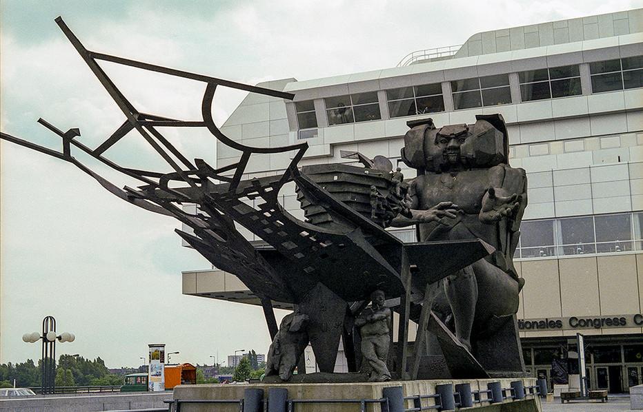 'Ecbatane - man builds his city' statue, ICC