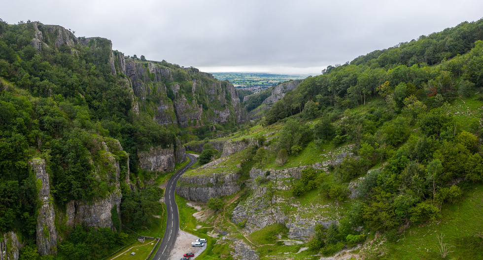 Cheddar Gorge pano looking south