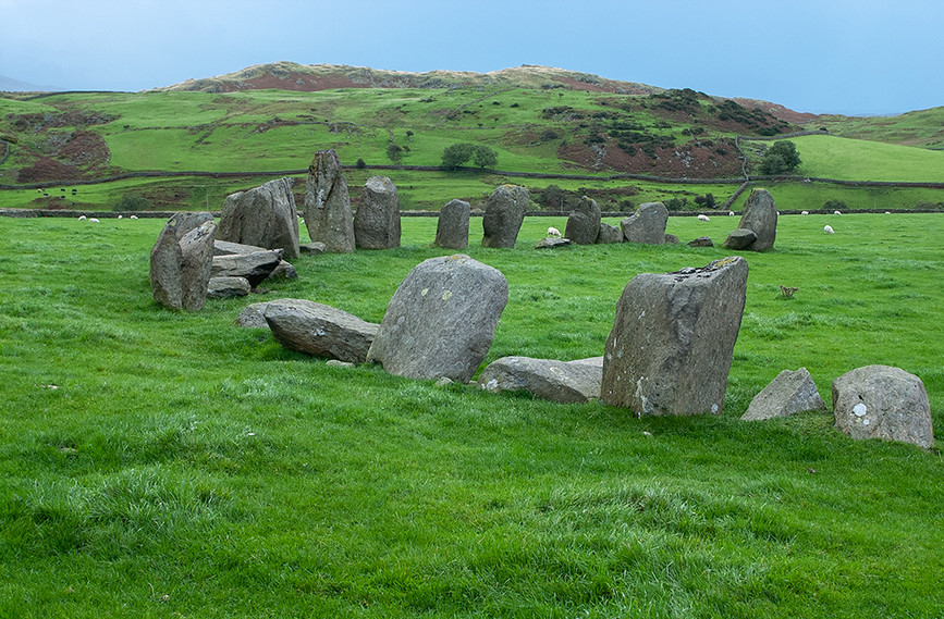 Northern end of stone circle