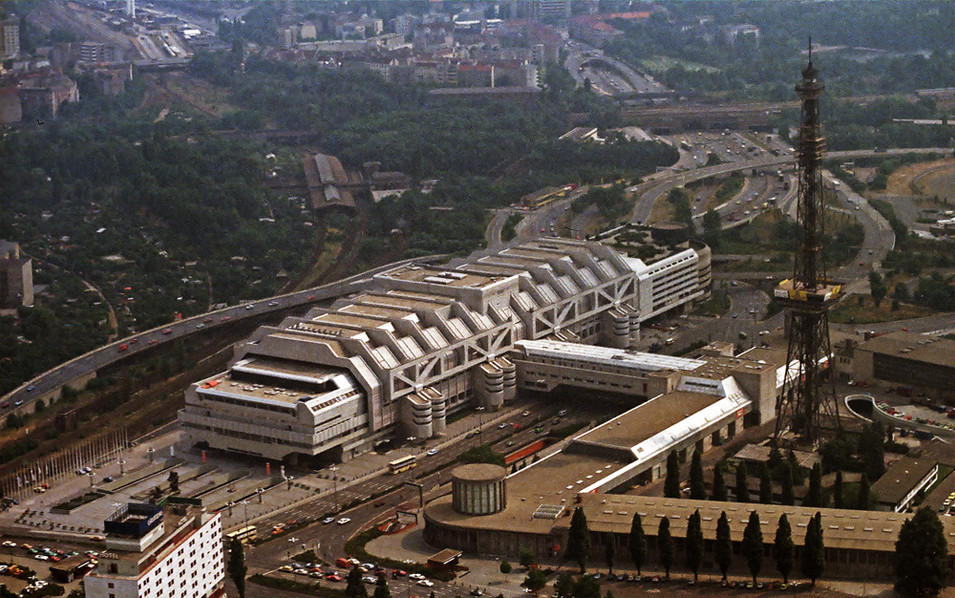 ICC, Funkturm & Avus from the air