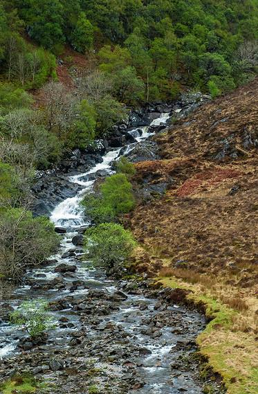 Small falls running down into Glencoe 01