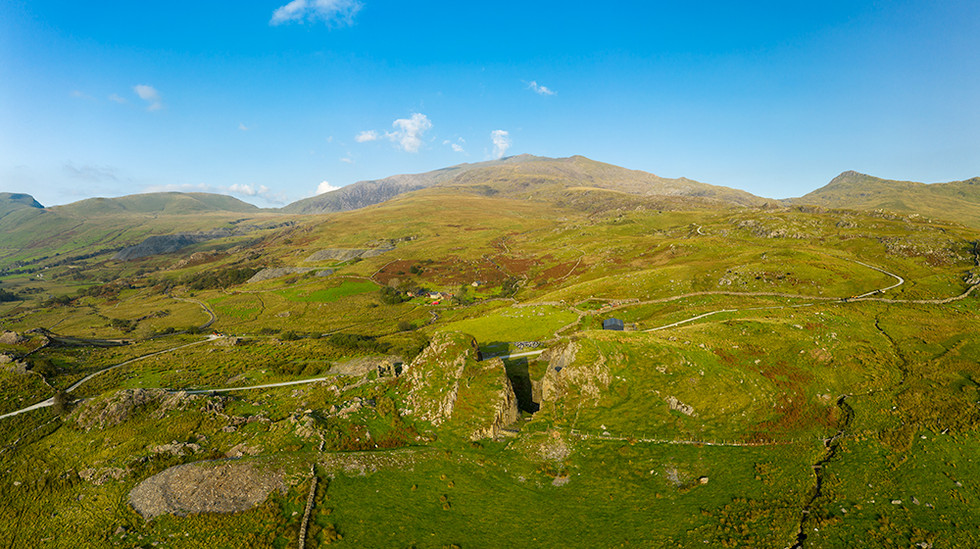 View towards the south slope of Mount Snowdon from Rhyd Ddu