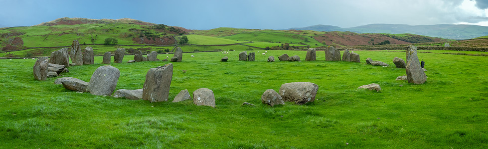 Swinside stone circle panorama 01