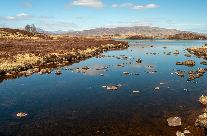 River leading to Loch Ba, Rannoch Moor 01