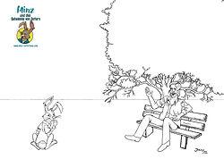 Minz und das Geheimnis von Ostern - Minz und der Mann auf der Parkbank