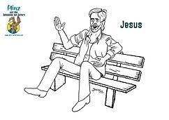 Minz und das Geheimnis von Ostern - Jesus Ausmalbild