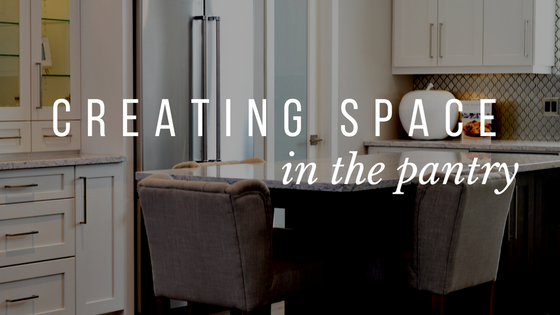 Creating Space in the Pantry