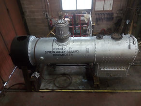 Loco_shed_-_repaired_boiler_for_Isle_of_