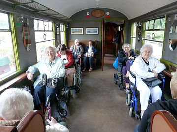 Wheelchair users enjoying a trip on the