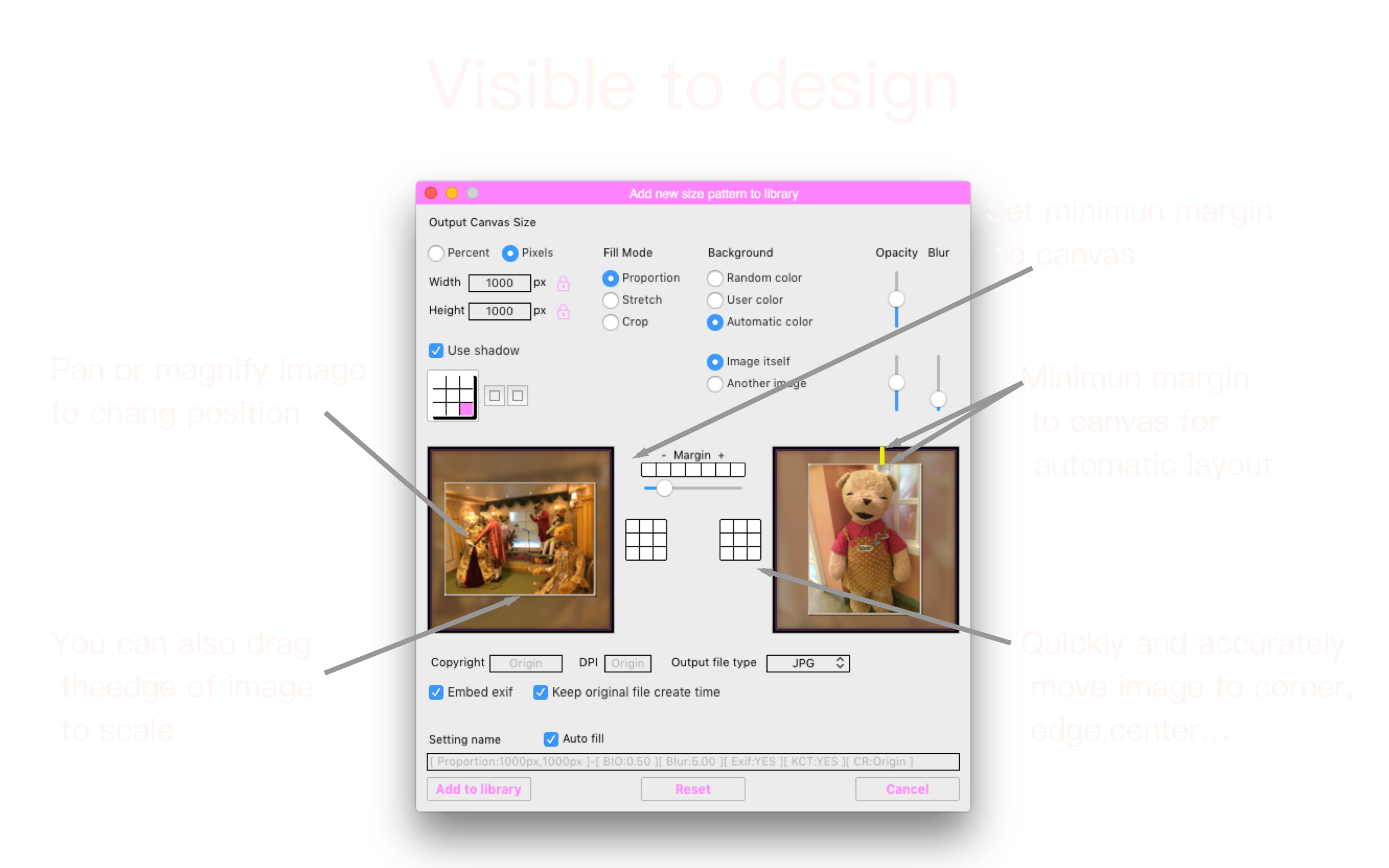 Visible to design