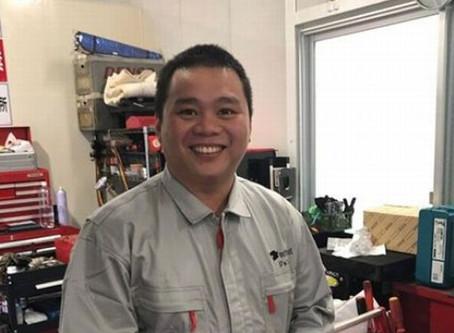 11月1日から技能実習生ジョンさんが入社しました
