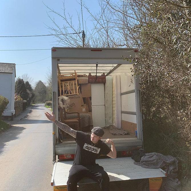 large luton van rear door open