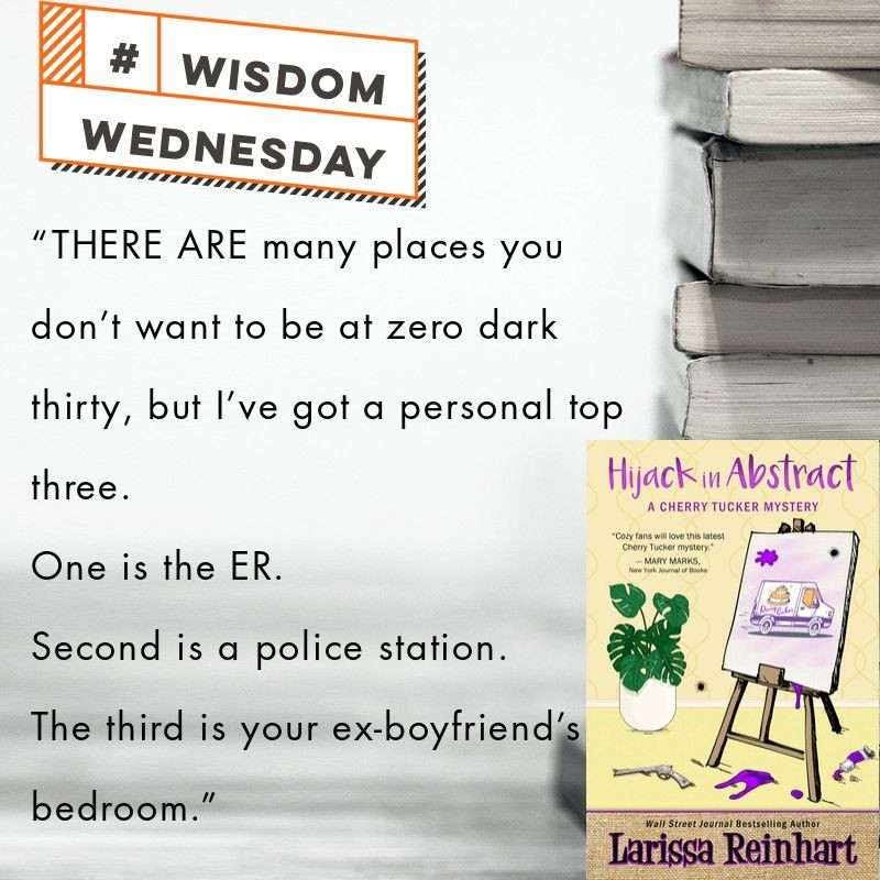 Wisdom Wednesday quote from Hijack in Abstract, A Cherry Tucker Mystery #3