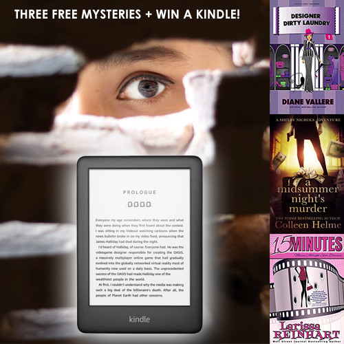 Win a Kindle & Download 3 Free Mysteries!
