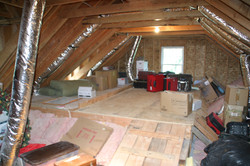 Attic Ducts Installed