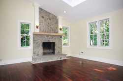 Wood burning fireplace install