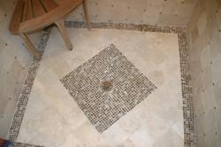 Shower floor tiling