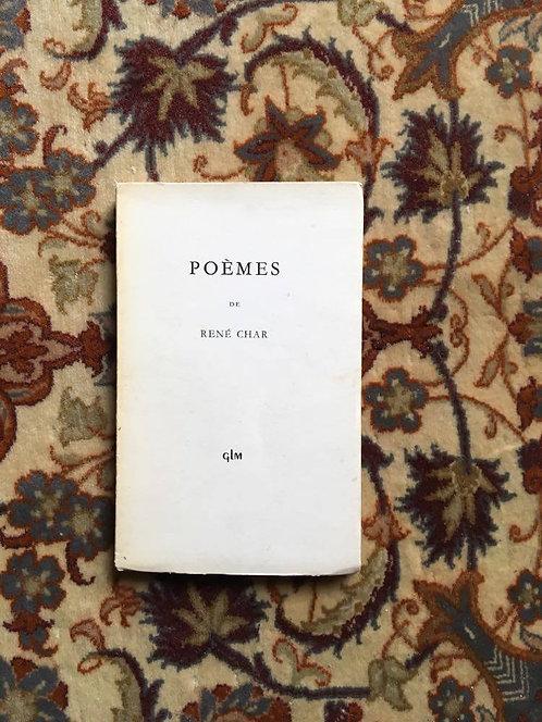 """CHAR René  """"Poèmes"""""""