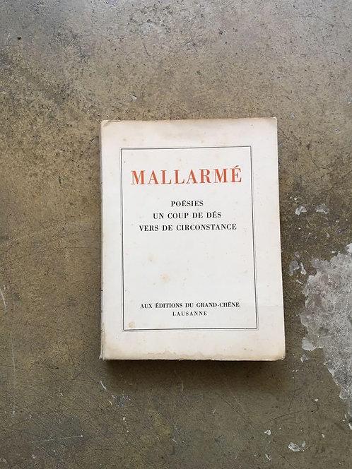 """MALLARMÉ  """"Poésies, un coup de dés, vers de circonstance"""""""