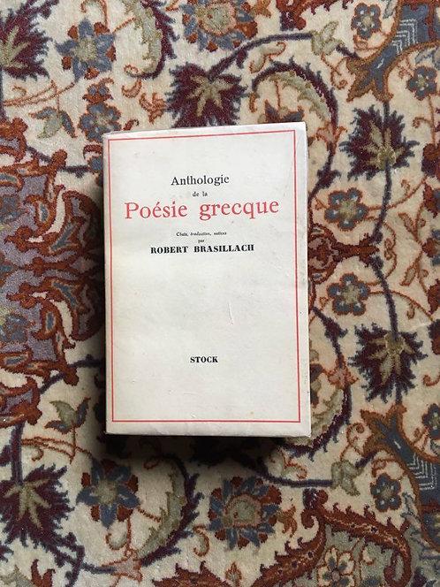 POÉSIE GRECQUE Anthologie de la